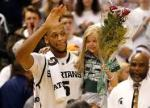 Payne and Lacey on Senior Night at the Breslin Center